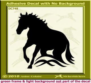 Dun Buckskin Quarter Horse Trailer Decal Sticker 486