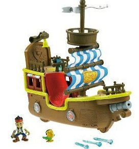 DISNEY JAKE NEVERLAND PIRATES JAKES BUCKY MUSICAL PIRATE SHIP NEW