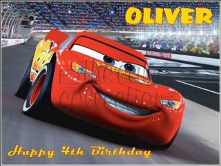 DISNEY CARS LIGHTNING MCQUEEN EDIBLE ICING / CAKE TOPPER   11 sizes