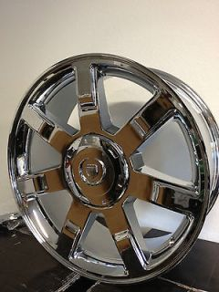 22 Inch Chrome Cadillac Escalade 7 Spoke Factory OE Wheels Rims 6x5.5