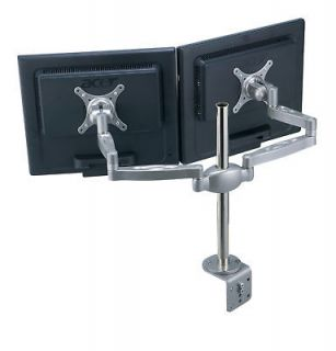 Aluminum LCD Screen Duel Monitor Desk Table Mount for 2 Monitors