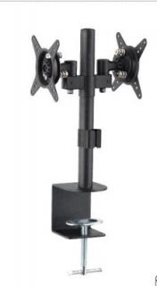 Dual LCD Monitors Desk Mount Height Adjustable