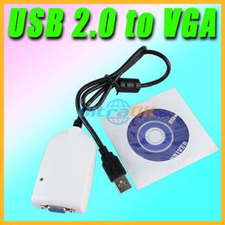 External USB 2.0 To VGA Adapter Multiple Video Graphic Card TV Display