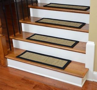 Premium Carpet Stair Treads   Brown Scrollwork (13) Plus a Matching 5
