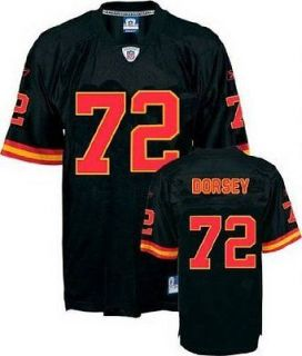 Reebok Kansas City Chiefs NFL Football Mens GLENN DORSEY # 72 Replica