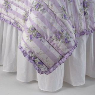 Simply Shabby Chic White Ruffled Queen Bed Skirt