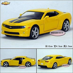 36 Chevrolet Camaro Bumblebee Diecast Car Model toy Sound&Light