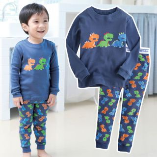 NWT Vaenait Baby Toddler Kid Boy In Door Sleepwear Pajama Set Dino
