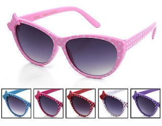Pairs Girls Youth Kids Cat Eyes Sunglasses Polka Dot Many Colors to