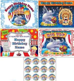 EDIBLE CAKE IMAGE CARNIVAL CIRCUS PARTY ICING SHEET TOPPER OR CUPCAKES
