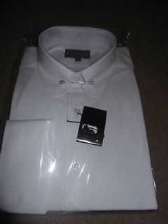 MENS WHITE COTTON COLLAR PIN SHIRT
