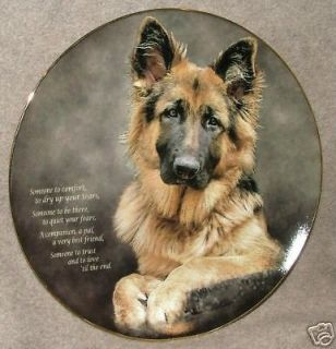 Danbury Mint DOG Plate GERMAN SHEPHERD Someone to Comfort 8 NEW Made