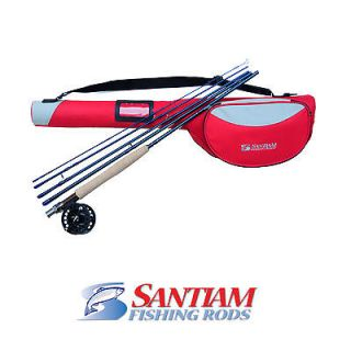 PC 3/4WT SANTIAM FISHING RODS FLY ROD PACKAGE WITH REEL AND DLX