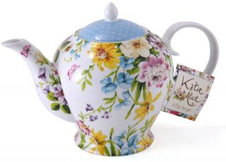 KATIE ALICE English Garden SHABBY CHIC 6 Cup Porcelain TEAPOT