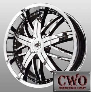 20 Chrome Black Ice Nemesis Wheels 5x112/5x114.3 5 Lug Mercedes Nissan