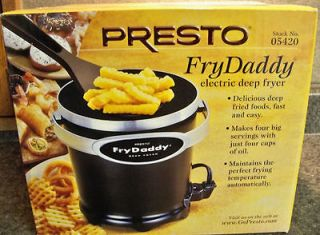 FRY DADDY Electric Deep Fryer   NEW in the Box   Presto 05420