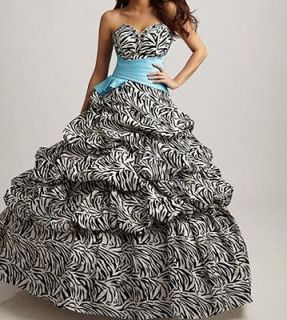 New Style Zebra Quinceanera Dresses Ball gown Prom Party Dreses