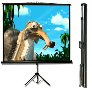 MaxStar 90 Format 43 Portable Tripod Projector Screen Matte White