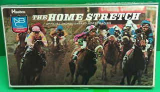 THE HOME STRETCH HASBRO THOROUGHBRED HORSE RACING BOARD GAME COMPLETE