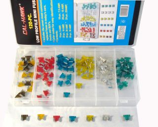 NEW 120Pc Low Profile Assorted Car Fuse Trucks SUVS Auto
