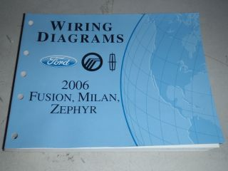 FORD FUSION MERCURY MILAN LINCOLN ZEPHYR DEALER WIRING DIAGRAM MANUAL