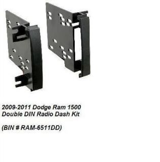 2009 2010 2011 Dodge Ram 1500 Double DIN Radio Dash Install Kit