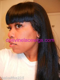 INSTOCK 16 Straight Nicki Minaj Indian Remy Human Hair Full Lace Wig