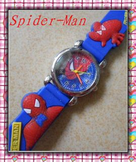Newly listed Fashion Stylish Child Boy Cartoon Spider Man Quartz Wrist