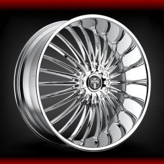 26 inch DUB Suave chrome WHEELS / AND COLOR MATCH wheels and tire