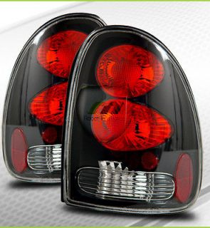 96 03 Dodge Durango Caravan Town & Country Voyager Tail Lights Black