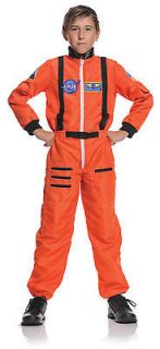 orange ASTRONAUT boys girls kids space suit halloween costume SMALL 4