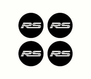Chevy RS rim wheel center cap Overlay Vinyl Decals v8 v6 5.7 5.0