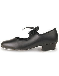 Girls Black Low Heel Tap Shoes Roch Valley Tap Shoe