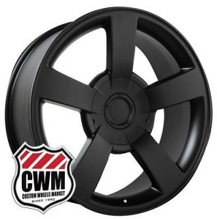 Chevy Silverado SS Style Matte Black Wheels Rims for Chevy Tahoe 2010