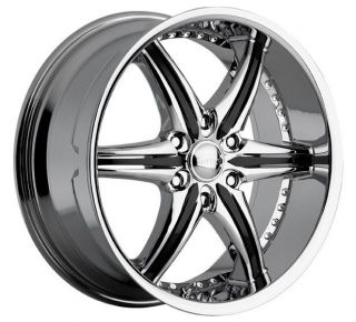 20 inch Cattivo 724 chrome black wheels rims 6x5 6x127