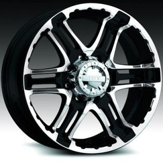 ALLOY DOUBLE PUMP GLOSS BLACK MACHINED F250 F350 SUPERDUTY WHEELS RIMS