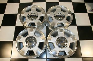 EXPEDITION 17 MACHINED SILVER FACTORY WHEELS / RIMS 3781 #2 (Set 4