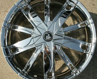 MAZE PL1 20 CHROME RIMS WHEELS LINCOLN LS 00 07 / 20 x 8.5 5H +38