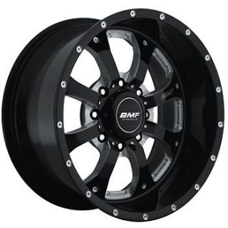 18x9 Black BMF Novakane 8x180 +0 Rims Toyo Open Country MT 33X12