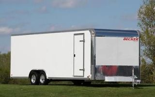24 ENCLOSED ALUMINUM CARGO CAR TRAILER  10K GVWR, RAMP, WHEELS