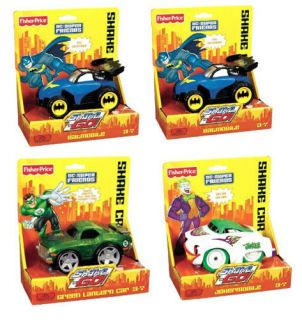 Shake n Go DC Super Friends Green Lantern Batman Joker Vehicles Case
