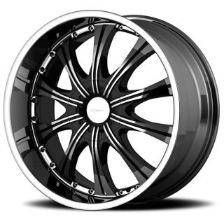 22 inch Diamo 30 karat black wheels rims 5x120 +35
