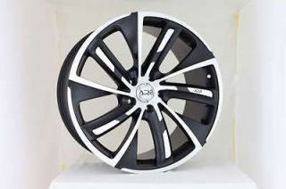 20 ADR 48 FLAT BLACK wheels rims Audi Mercedes mbz VW STAGGERED