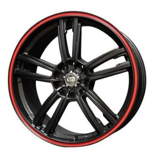 18 ENKEI KLAMP BLACK RIMS WHEELS 18x7.5 +45 5x114.3 ACCORD MAZDA 3