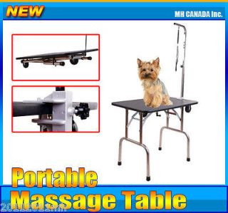 Newly listed Portable Folding Pet Dog Cat Grooming Table w/ Wheels