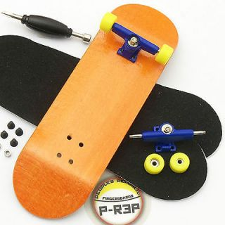 Rep   30mm Basic Complete Wooden Fingerboard   Orange with Bearings