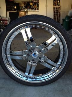 22 asanti Rims AF 135 with Tires 3 Piece Rims