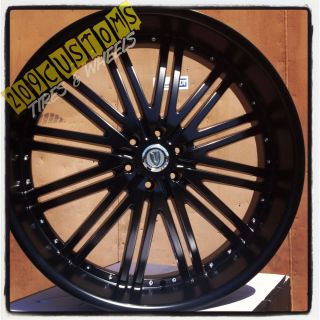 22 INCH VERSANTE RIMS WHEELS TIRES VW212 BLACK 22X9 5 5X115 CHALLENGER