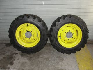John Deere 3000 Galaxy Tractor Tire and Rims 7 by 8 5 by 15 NHS on GKN