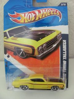 Hot Wheels 2011 69 Ford Torino Talladega Yellow